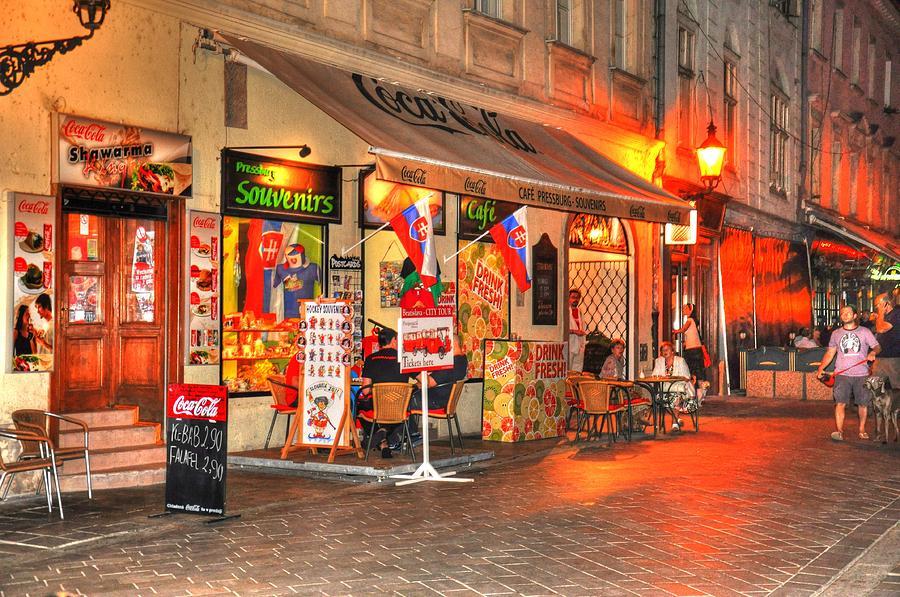 Helsinki Finland Digital Art - Bratislava Grocery by Barry R Jones Jr