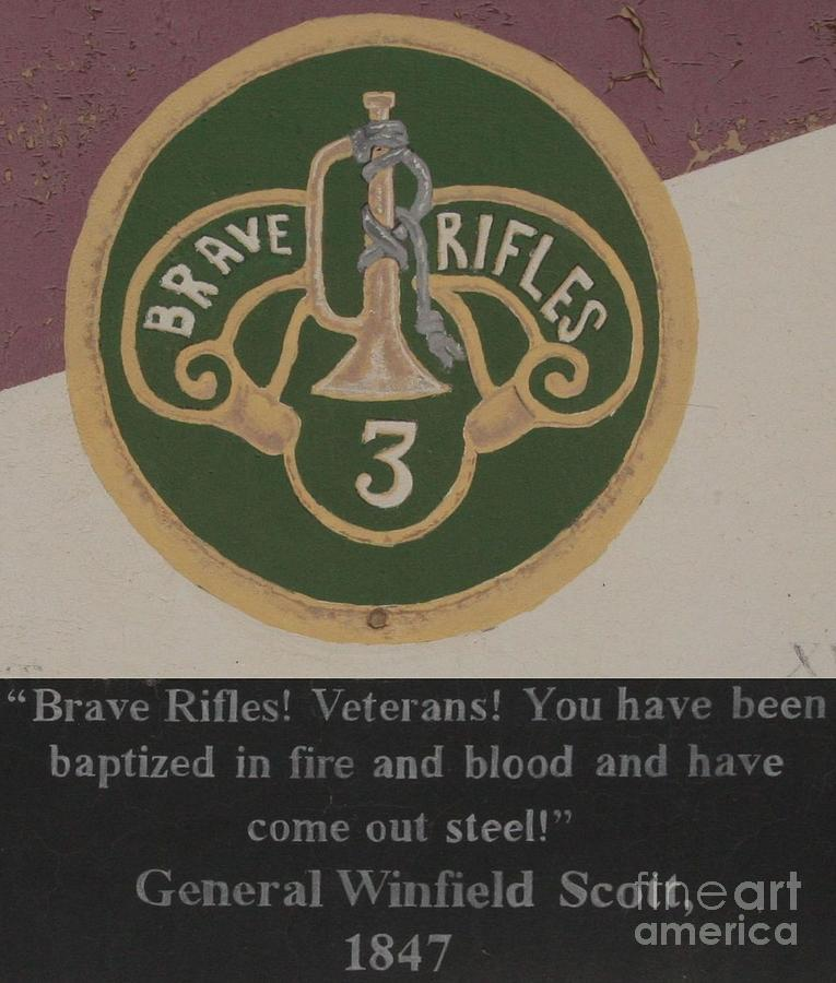 Brave Rifles - General Scott Photograph  - Brave Rifles - General Scott Fine Art Print