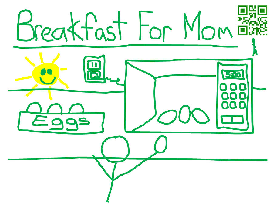 Breakfast For Mom Digital Art