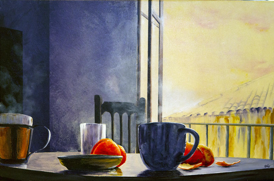 Breakfast In Granada Painting 