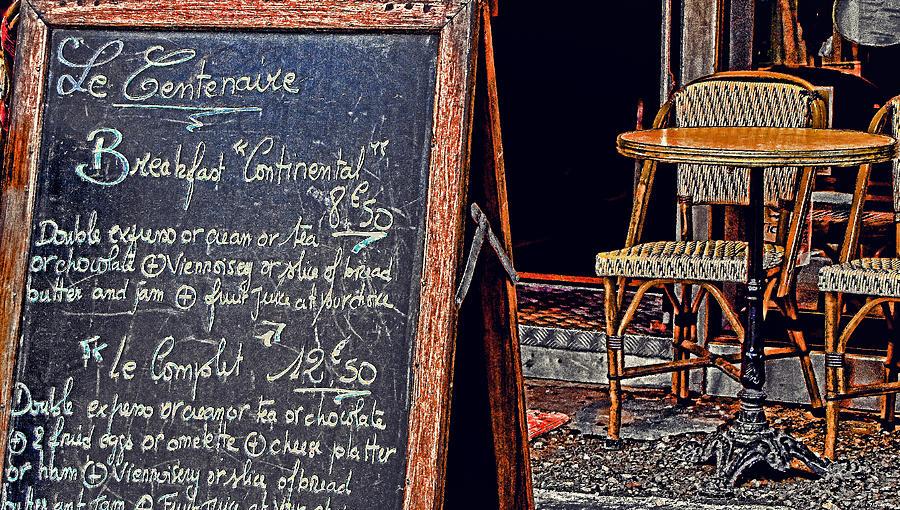 Paris Photograph - Breakfast In Paris by Tony Grider