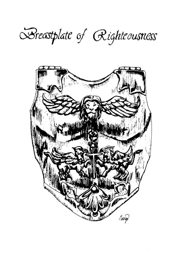 Breastplate Of Righteousness Drawing