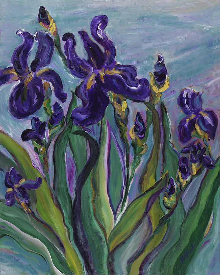 Breath Of Iris Painting  - Breath Of Iris Fine Art Print