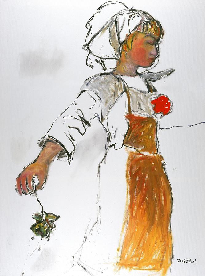 Breton Girl Painting