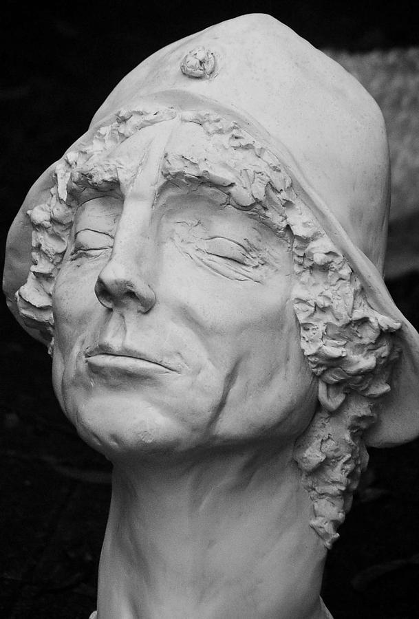 Bust:human Size Of Brett Whiteley. Sculpture - Brett. by Carole Osullivan