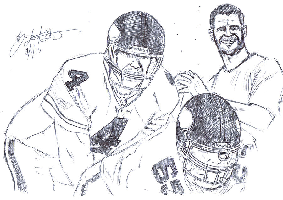Brett Favre Drawing