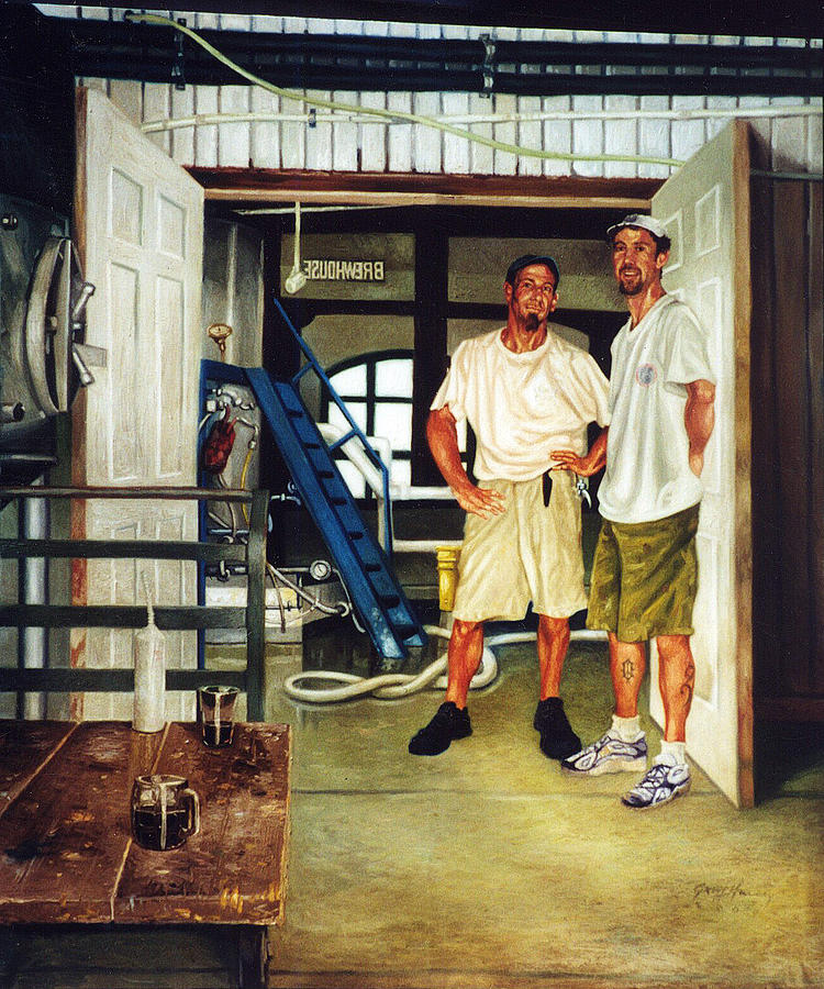 Brew Dudes Painting  - Brew Dudes Fine Art Print
