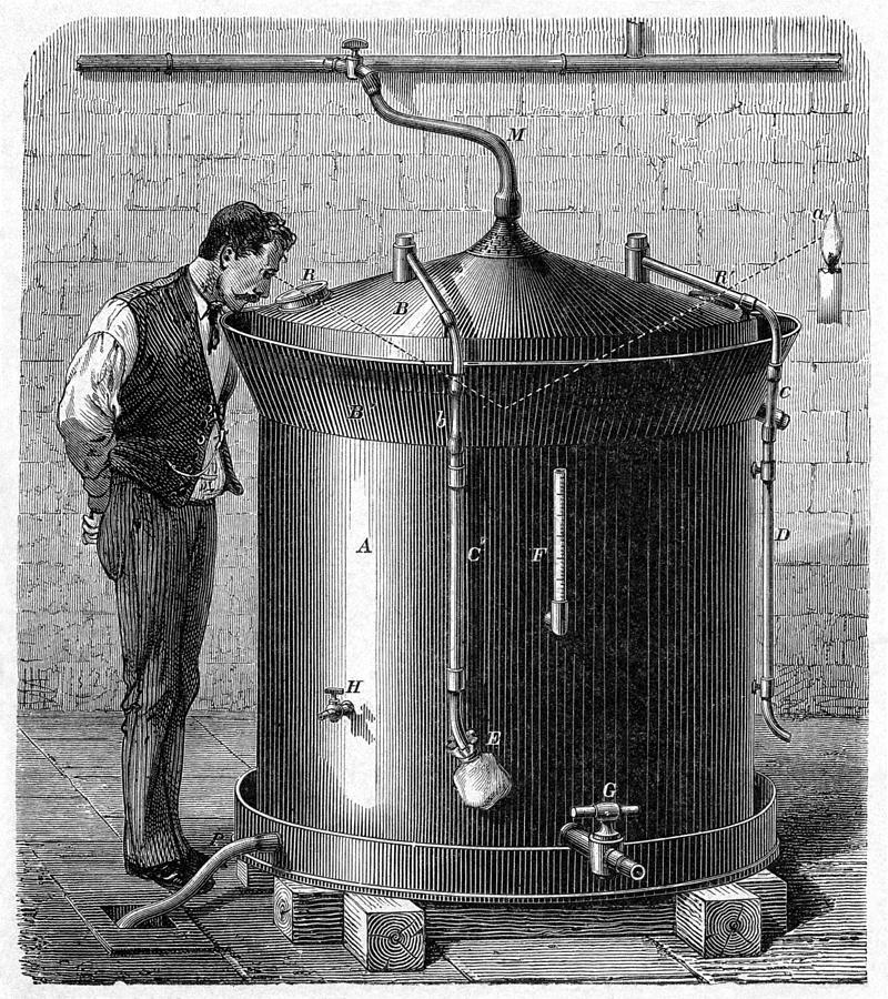 Brewery Vat, 19th Century Photograph  - Brewery Vat, 19th Century Fine Art Print