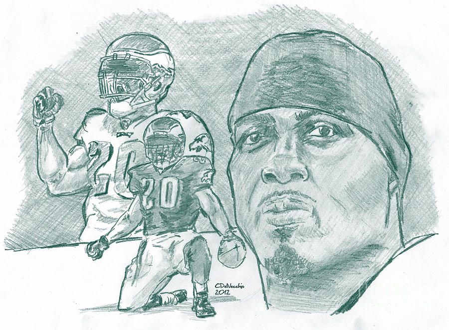 Brian Dawkins Dkgreen Drawing