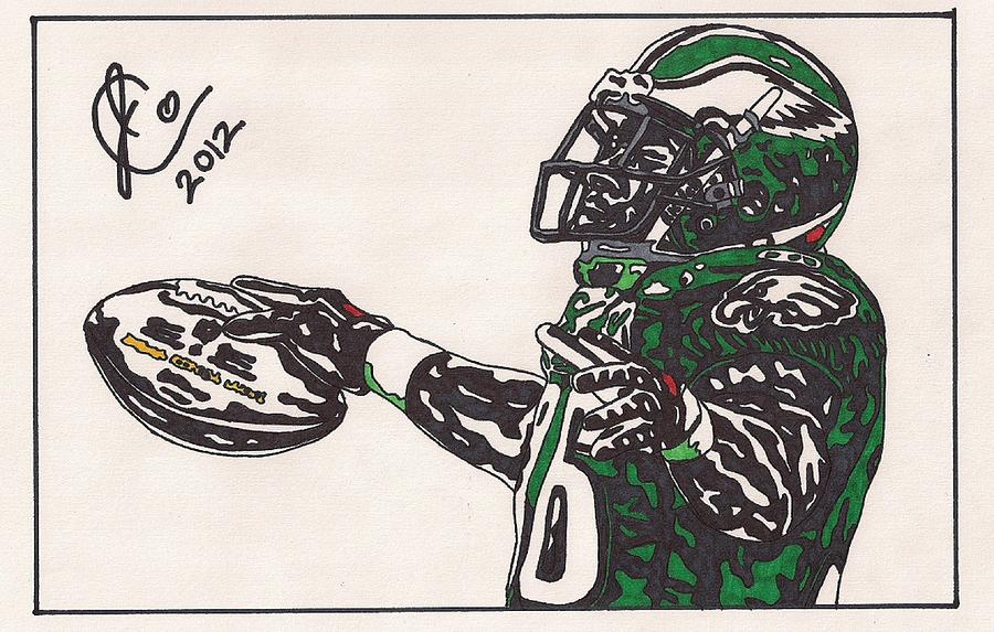 Brian Westbrook 2 Drawing  - Brian Westbrook 2 Fine Art Print