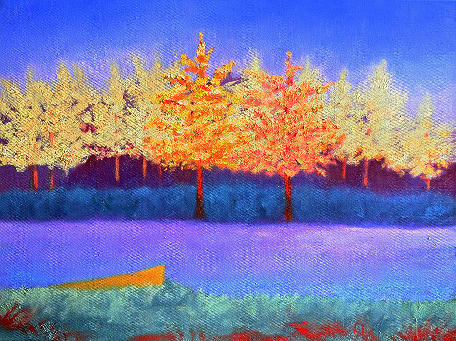 Landscape Painting - Brians Lake by Karin Eisermann