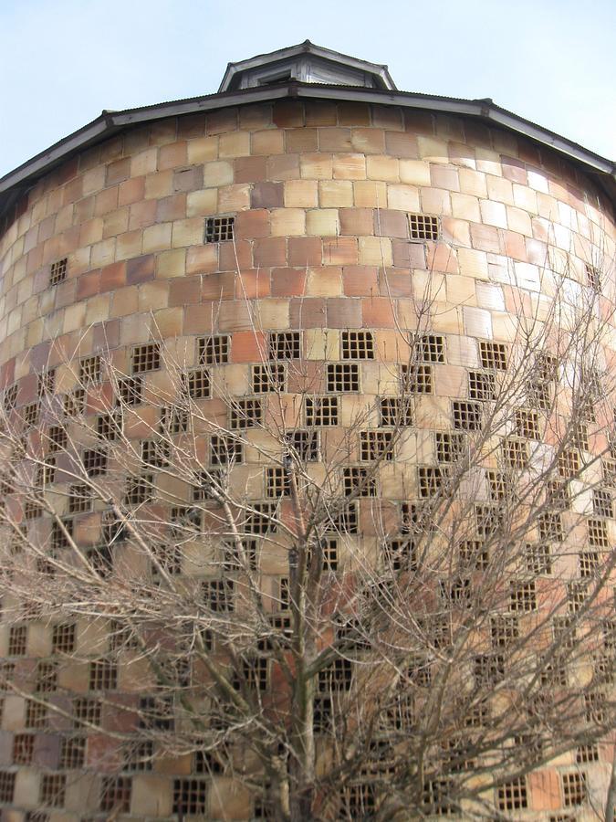 Brick Grain Bin Photograph