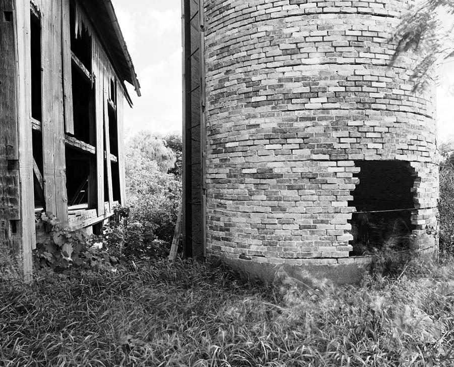 19th Century Farming Photograph - Brick Silo Wales by Jan Faul
