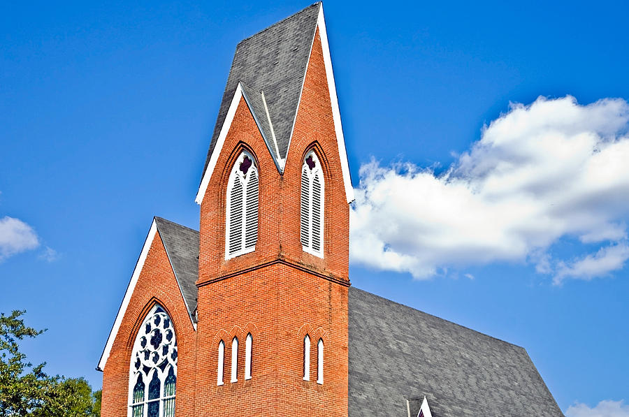Brick Steeple Photograph  - Brick Steeple Fine Art Print