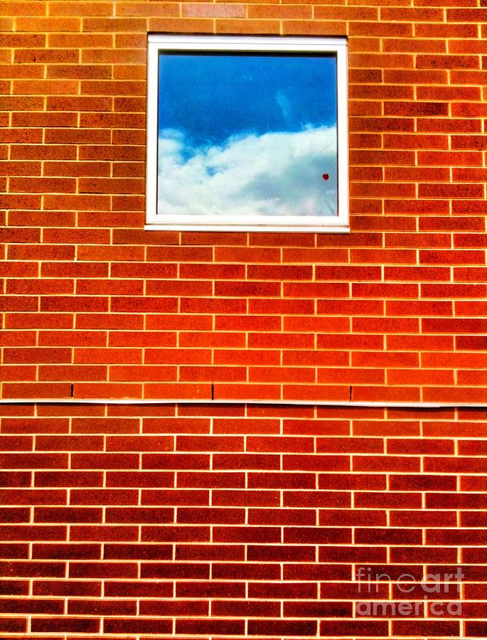 Bricks Sky Window Photograph  - Bricks Sky Window Fine Art Print