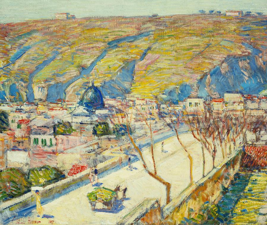 Bridge At Posilippo At Naples Painting