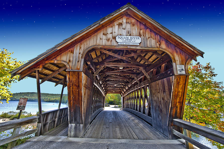 Bridge Covered Bridge Photograph  - Bridge Covered Bridge Fine Art Print