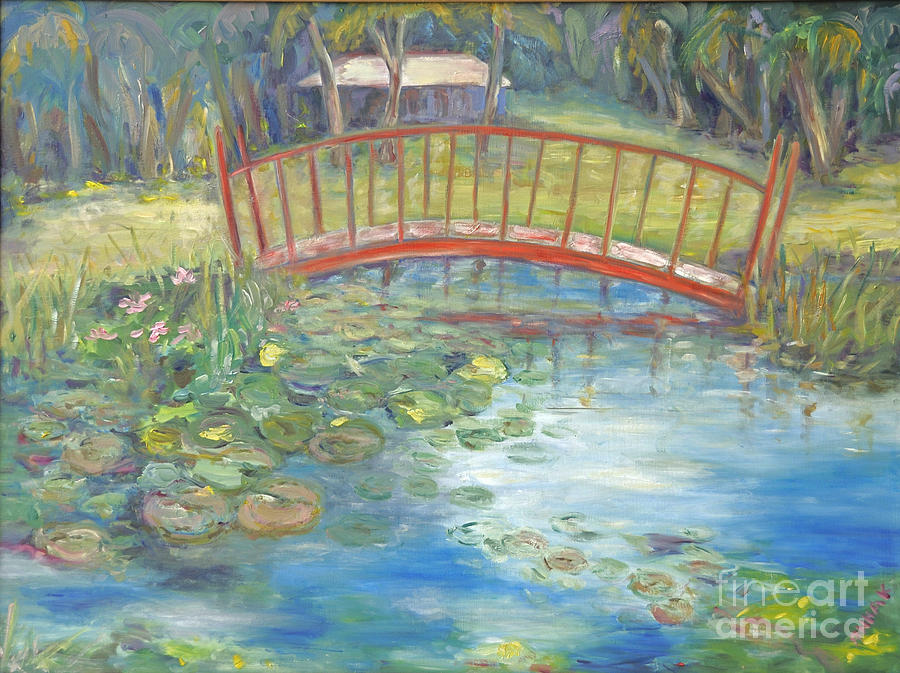 Bridge In Vero Beach Painting  - Bridge In Vero Beach Fine Art Print