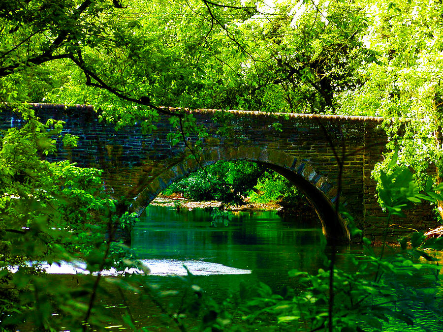 Bridge Over The Wissahickon Photograph  - Bridge Over The Wissahickon Fine Art Print