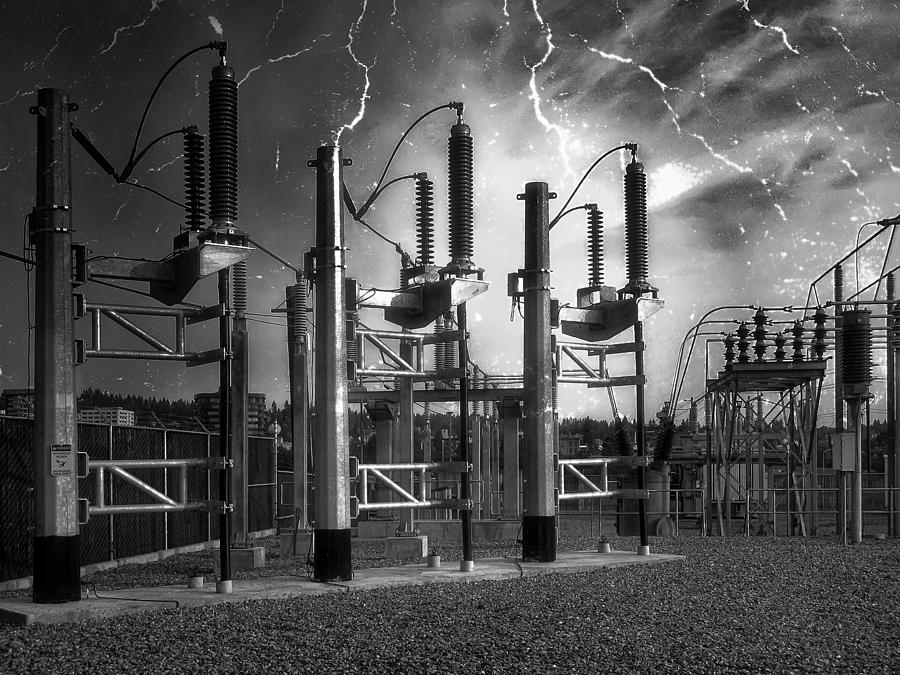 Bridge St Power Substation 2 - Spokane Washington Photograph