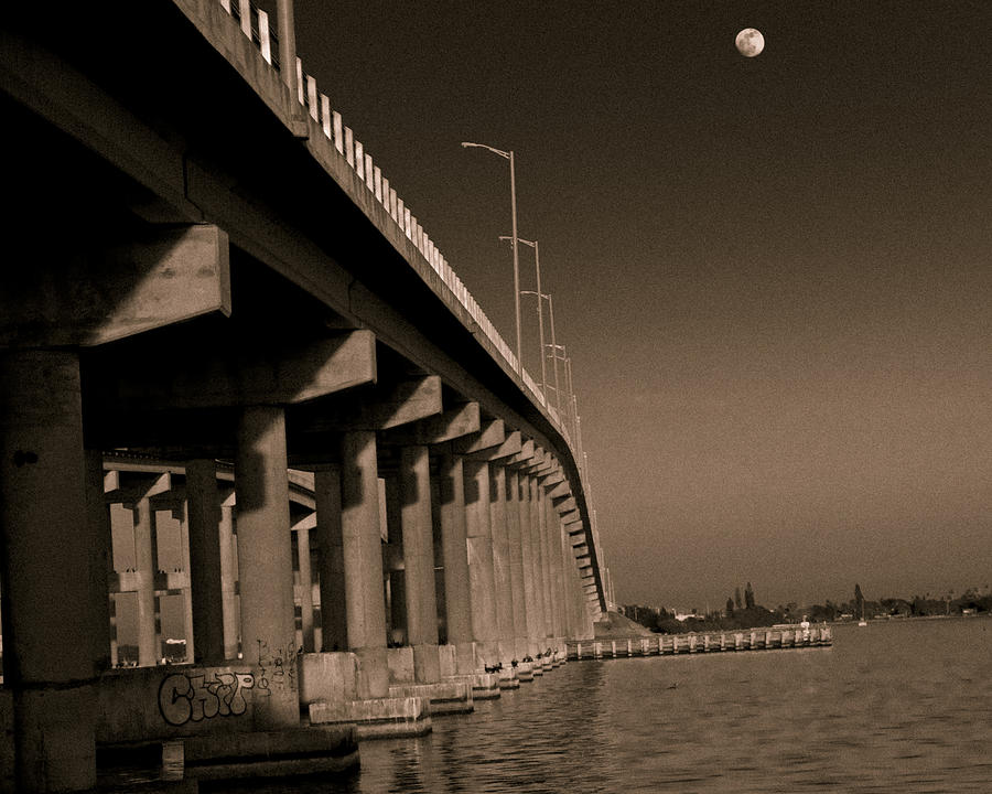 Bridge To The Moon Photograph  - Bridge To The Moon Fine Art Print