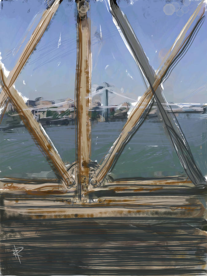 Bridge View Mixed Media  - Bridge View Fine Art Print