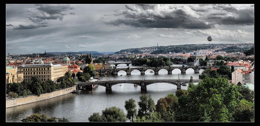 Bridges In Prague Photograph - Bridges In Prague by Petr Nikl