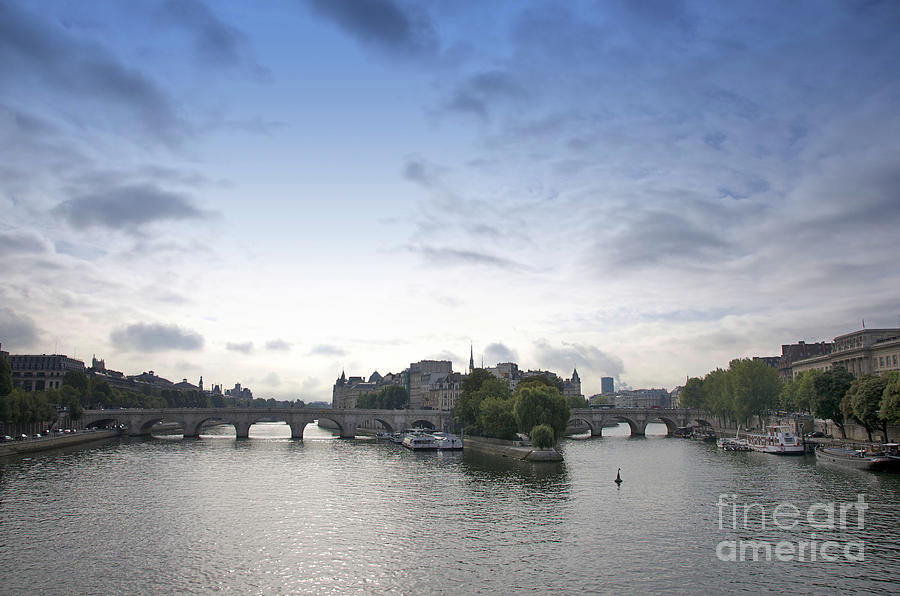 Bridges On River Seine. Paris. France Photograph  - Bridges On River Seine. Paris. France Fine Art Print