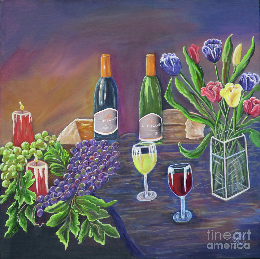 Bridlewood Brunch Painting  - Bridlewood Brunch Fine Art Print