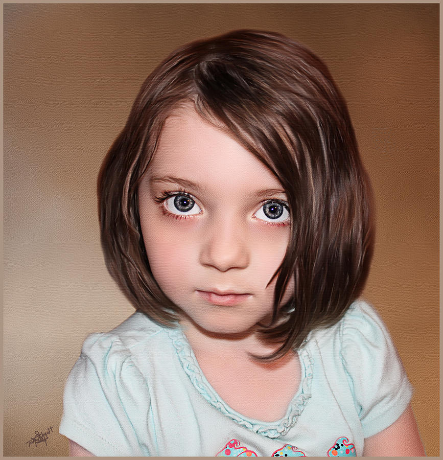 Bright Eyes Painting  - Bright Eyes Fine Art Print