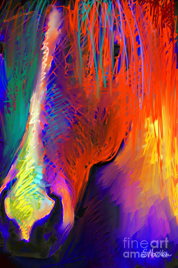 Bright Mustang Horse Painting