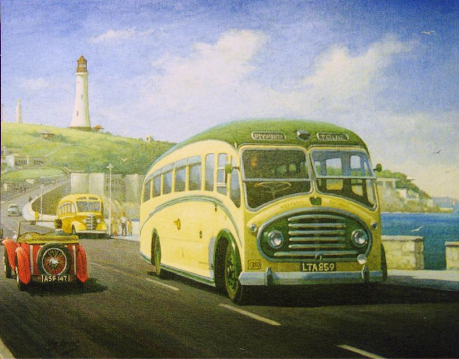 Bristol L On Plymouth Hoe Painting  - Bristol L On Plymouth Hoe Fine Art Print