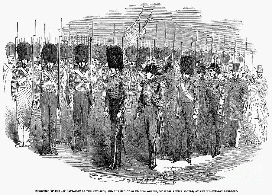 1854 Photograph - Britain: Fusiliers, 1854 by Granger