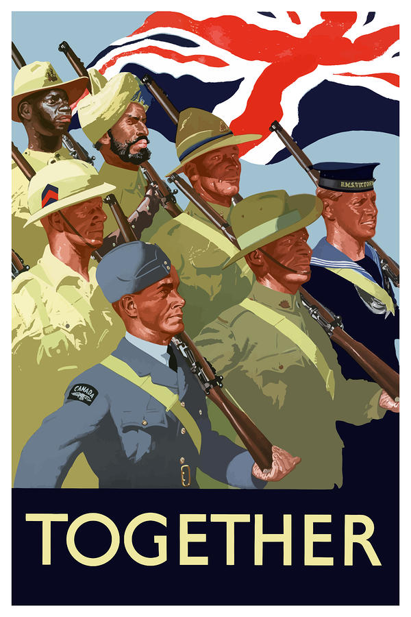 British Empire Soldiers Together Painting