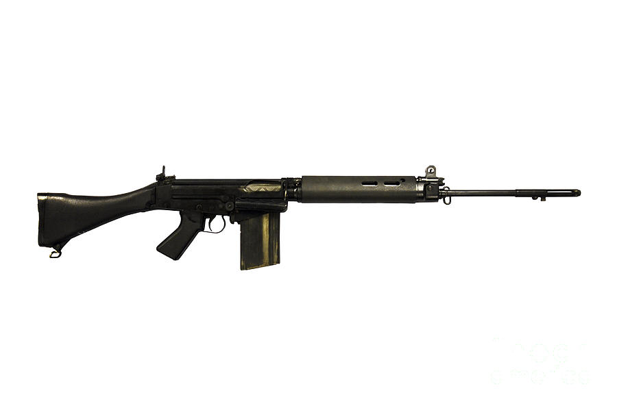 British L1a1 Self-loading Rifle Photograph  - British L1a1 Self-loading Rifle Fine Art Print
