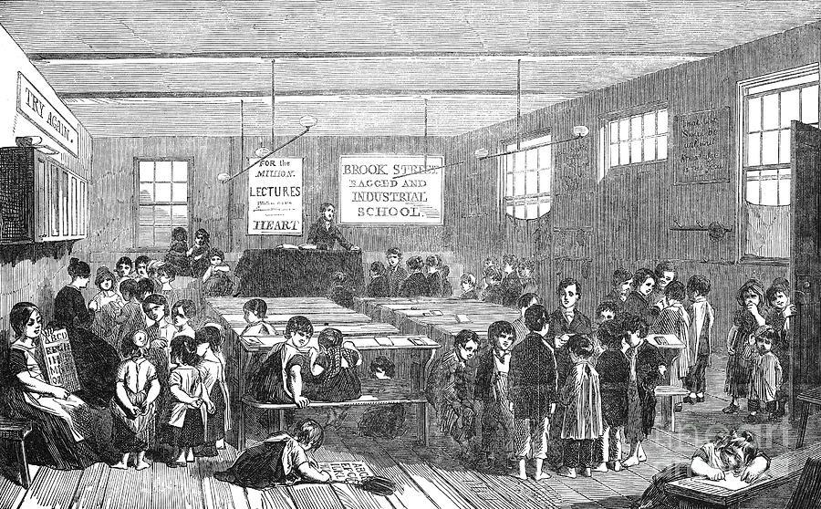 1853 Photograph - British Ragged School by Granger