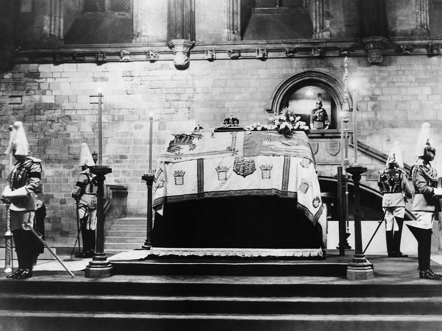 British Royal Family. Coffin Of King Photograph