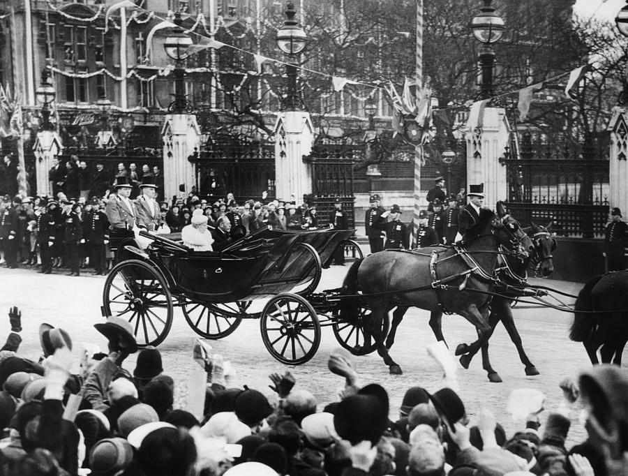 British Royal Family. In Coach British Photograph