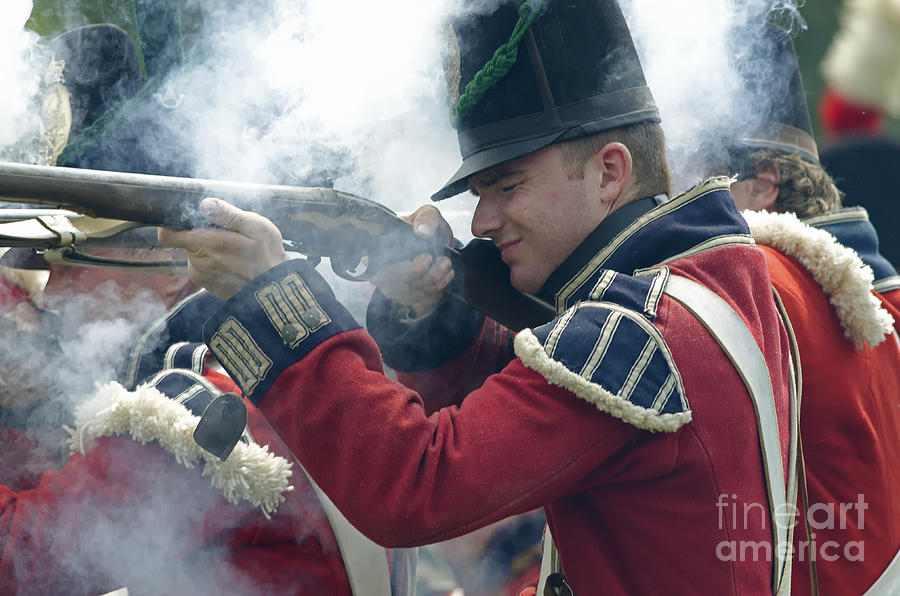 British Soldier Firing Photograph