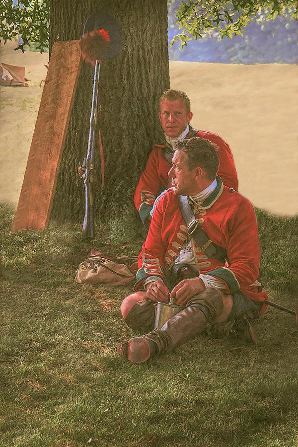 British Soldiers In Camp Digital Art
