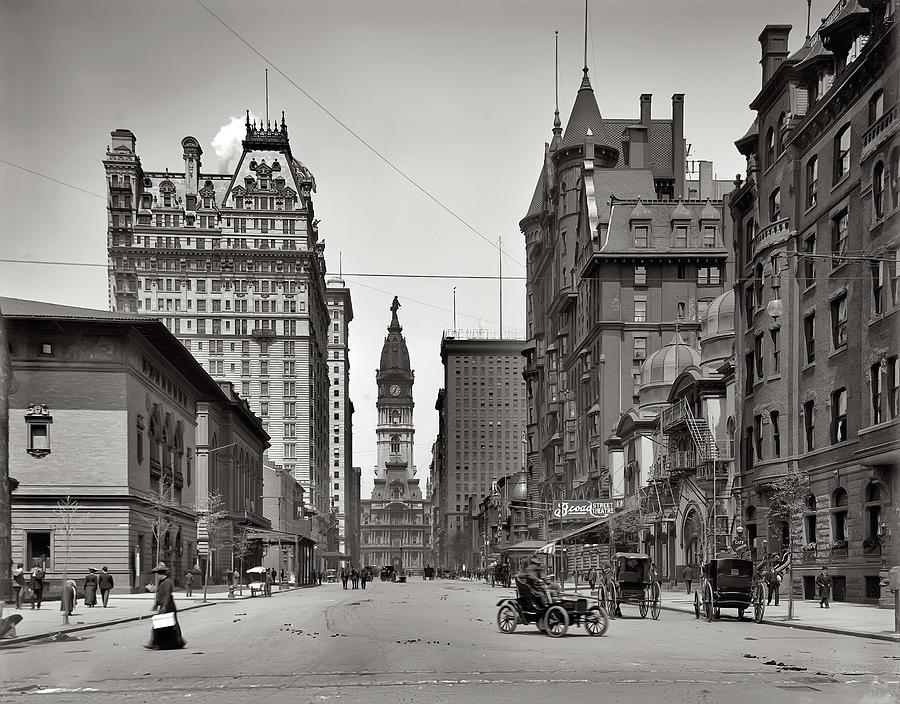 Broad Street Philadelphia 1905 Photograph