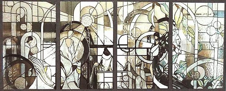 Broadway Boulevard Glass Art
