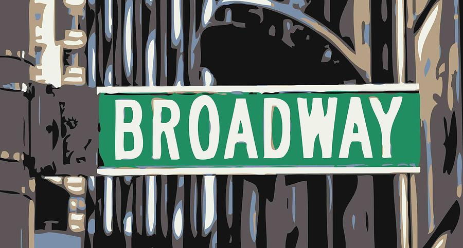 Broadway Sign Color 6 Photograph  - Broadway Sign Color 6 Fine Art Print