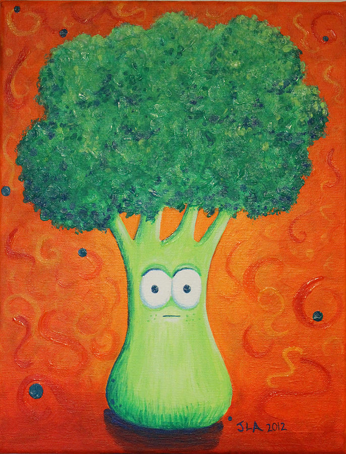 Brocolli Painting  - Brocolli Fine Art Print