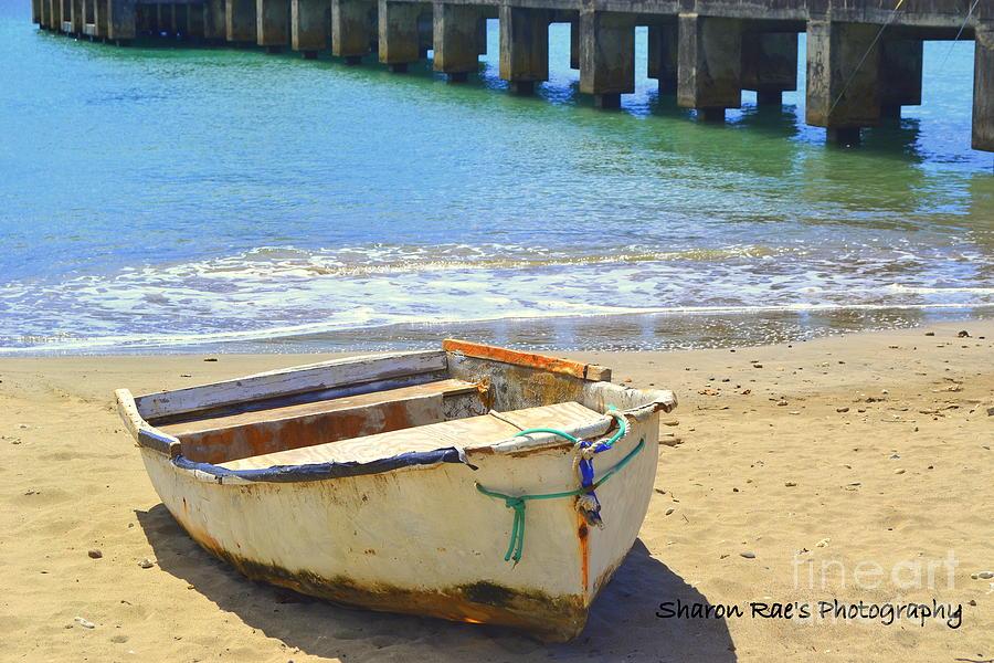 Ocean Photograph - Broke Boat by Sharon Farris