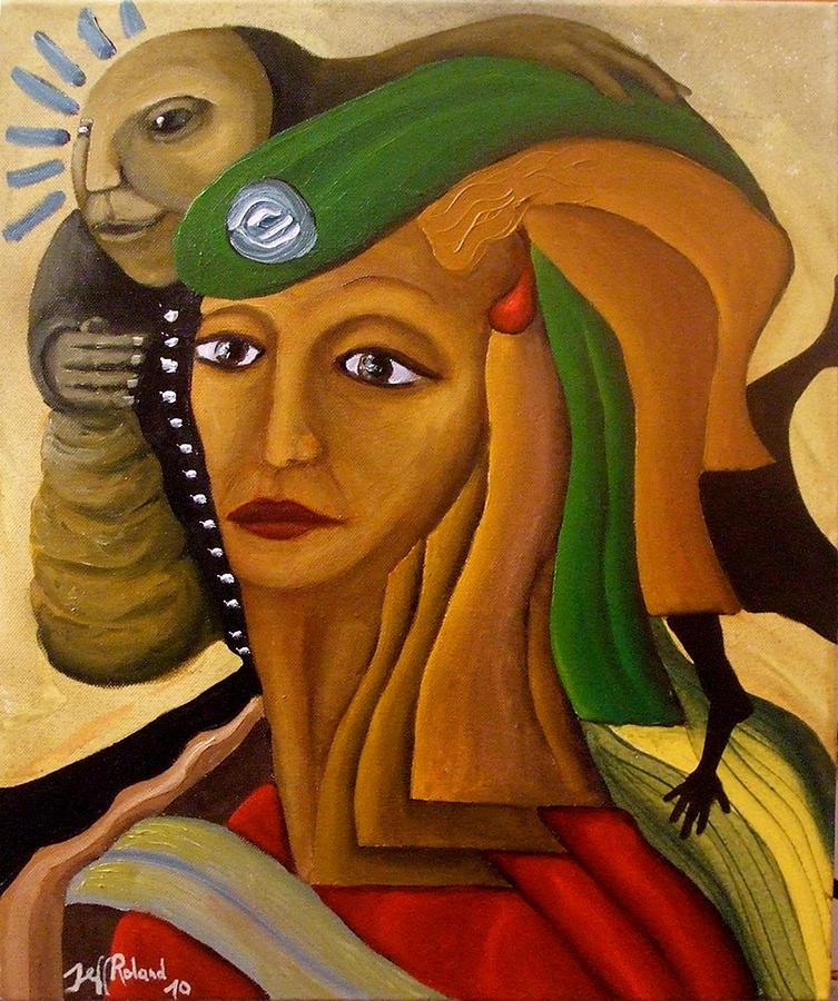 Portrait Painting - Broken Future by Jeff  Roland