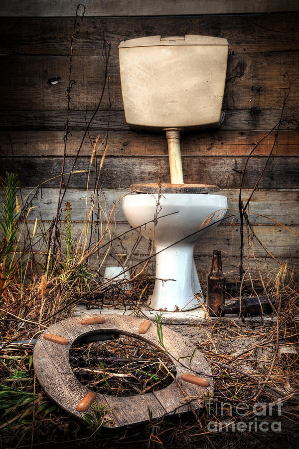 Broken Toilet Photograph  - Broken Toilet Fine Art Print