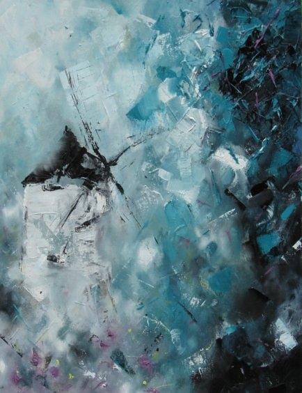 Broken Windmill. Painting