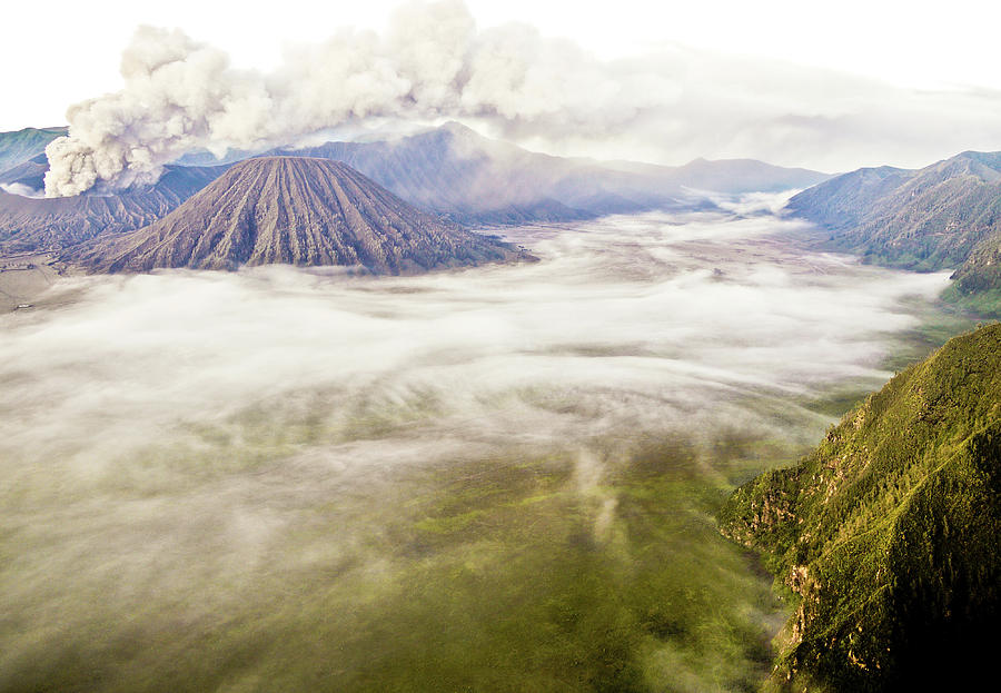 Bromo Volcano Crater Photograph