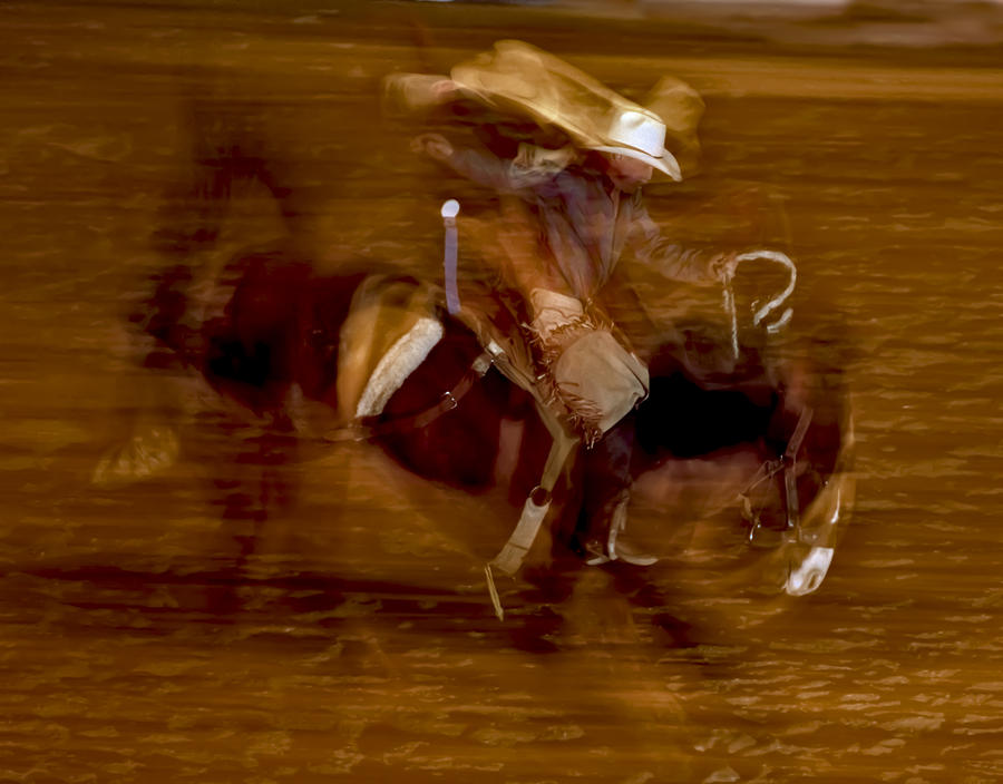 Bronc Riding 1 Photograph  - Bronc Riding 1 Fine Art Print